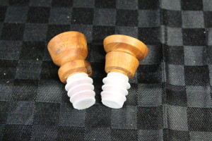 Blakely's Red Gum bottle stoppers finished with UBeaut Food Safe.