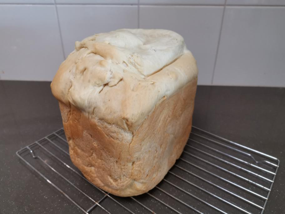 A loaf of bread from the bread maker