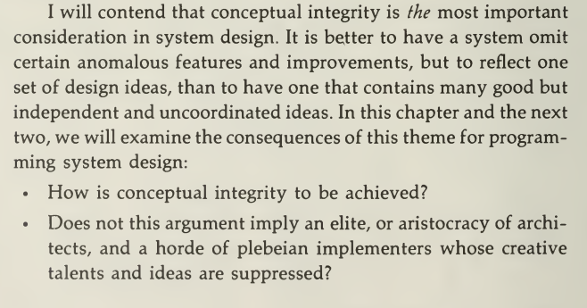 How is conceptual integrity to be achieved?
